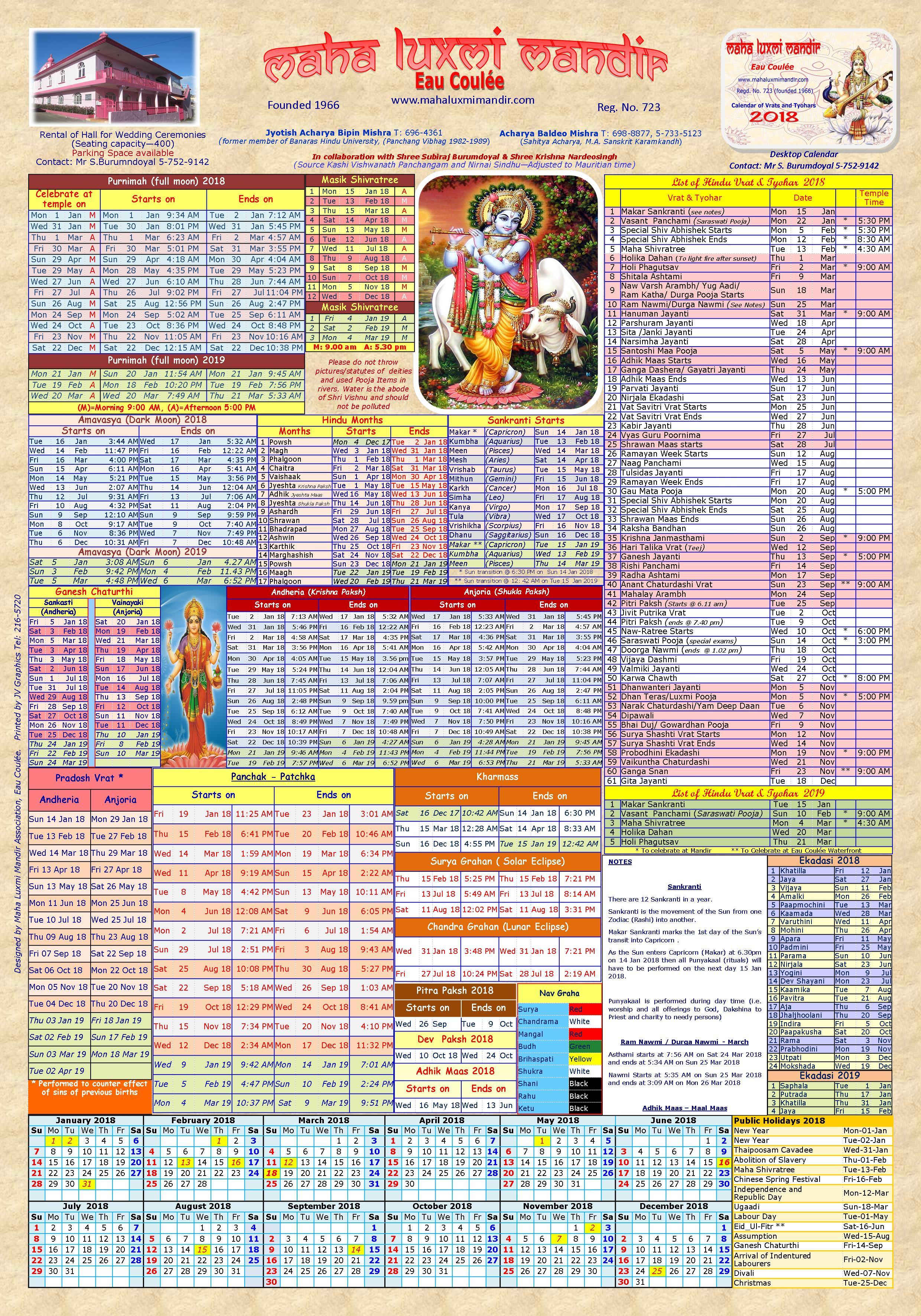 august 2019 hindu calendar